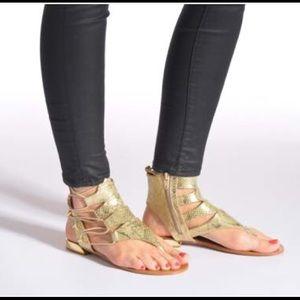 0f3ec3e61b66 Aldo Shoes - Aldo Athena Gold Gladiator Sandals